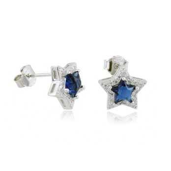 Orecchini Donna Orecchini a stella in argento e pietra blu Alexia Gioielli