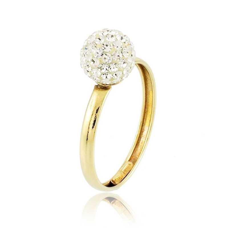 Anello in oro con sfera di zirconi Zoppi Gioielli jewelry Anelli Donna AU-AND108
