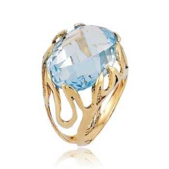 Anello con acquamarina in oro Zoppi Gioielli jewelry Anelli Donna AU-AND120