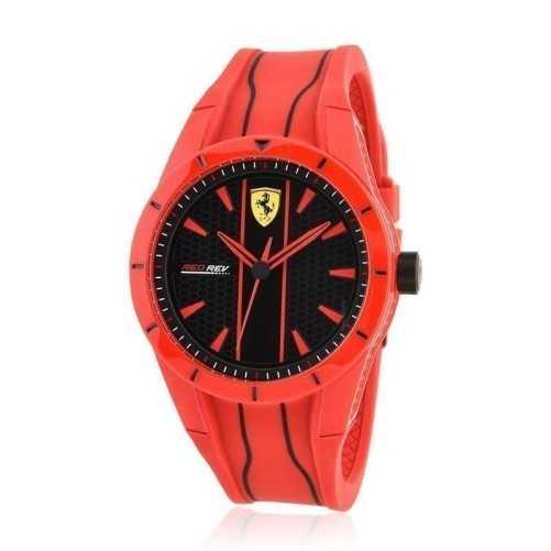 Orologio Scuderia Ferrari in silicone rosso Scuderia Ferrari Orologi Sportivi uomo 0830496