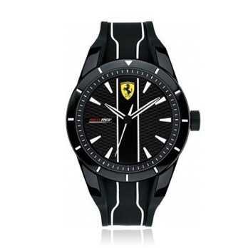 Sportivi Orologio Scuderia Ferrari in silicone nero Scuderia Ferrari