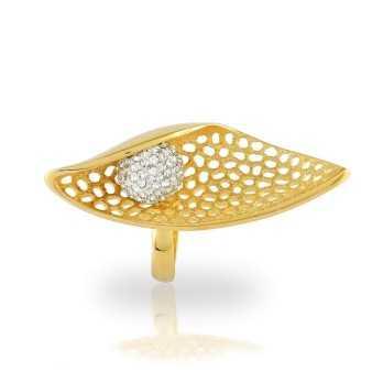 Anello a spoletta in argento dorato Anelli Donna 60,00€ product_reduction_percent