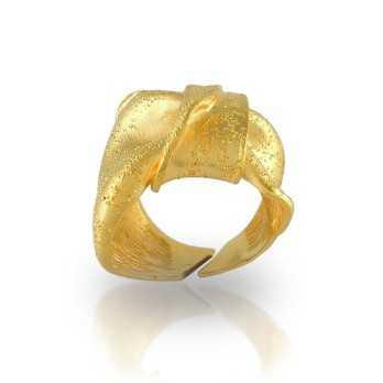 Anelli Donna Anello a fiocco in argento dorato Puca Jewels