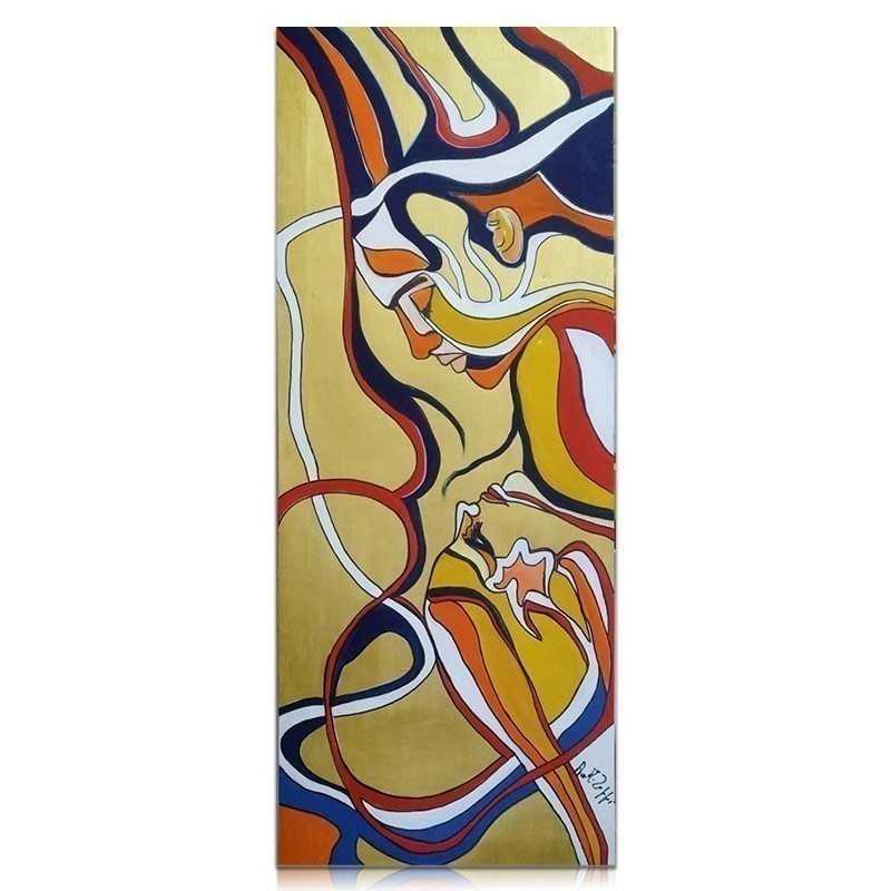 Dipinti Quadro dipinto a mano su tela 30x100 cm Anna Maria Zoppi - Painter