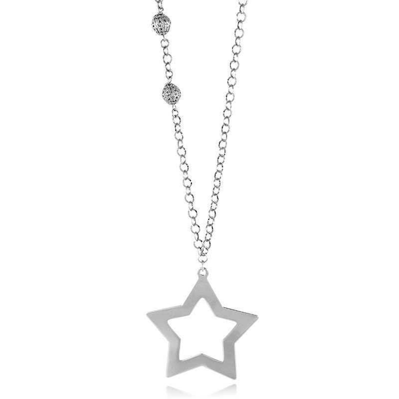 Collana con stella in bronzo galvanizzato oro 24ktI Think Jewels Collane Donna 42,00€ ITJ-CL449B