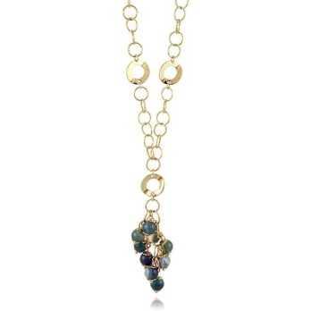 Collana con ciuffo in bronzo galvanizzato oro 24ktI Think Jewels Collane Donna 52,00€ ITJ-CL549G