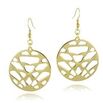 Orecchini Donna Orecchini pendenti in bronzo galvanizzato oro 24kt I Think Jewels