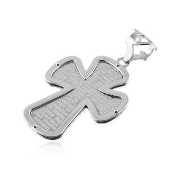 Croce con preghiera in argento Zoppi Gioielli bijoux Croci e Medaglie CN180AG6