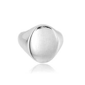 Anelli Uomo Anello da mignolo ovale in argento Alexia Gioielli