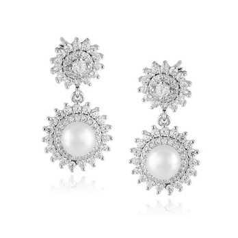 Orecchini Perle Orecchini pendenti con perla e swarovski Alexia Gioielli
