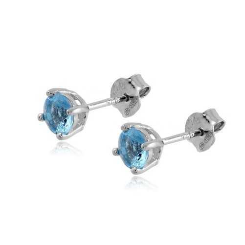 Orecchini argento con pietra azzurra 5mm Alexia Gioielli Orecchini Donna RB-OR6AGA