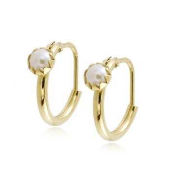 Orecchini bimba oro giallo e perlina Gioielli Baby & Kids 124,00€ product_reduction_percent