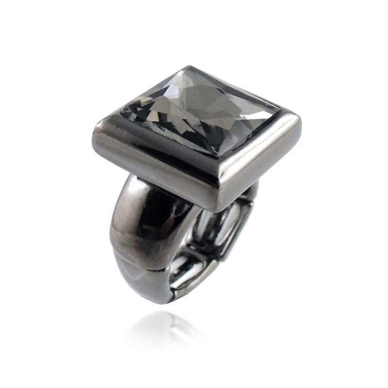 Anello in metallo e cristallo neroLizas jewellery Promozioni 9,00€ LZ-61891AN