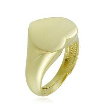 Anello da mignolo a cuore in argento lucido Anelli Donna 26,00€ product_reduction_percent