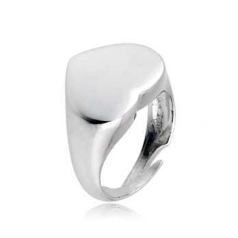 Anello da mignolo a cuore in argento lucido Alexia Gioielli Anelli Donna RB-ANM18AG