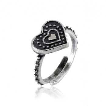 Anello in argento a cuore antichizzato  Anelli Donna RB-ANC110AG
