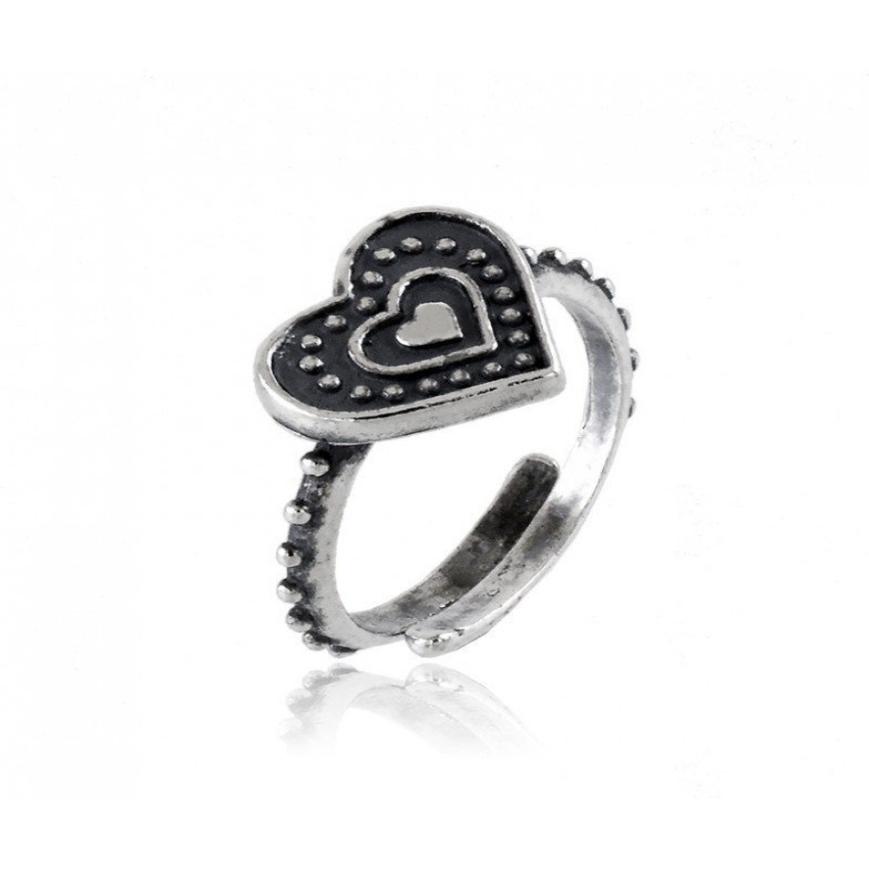 Anello in argento a cuore antichizzatoAlexia Gioielli Anelli Donna 18,00€ RB-ANC110AG