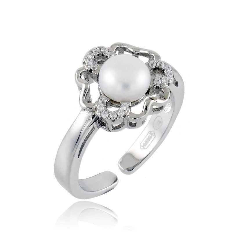 Anello in argento a fiore con perlaAlexia Gioielli Anelli Perla 22,00€ RB-ANP190AGF