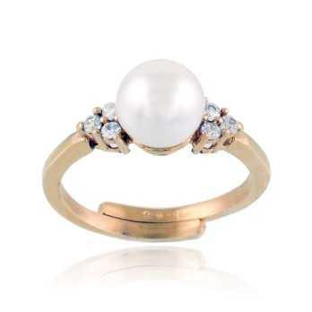 Anello in argento rosa con perla Alexia Gioielli Anelli Perla RB-ANP240AG