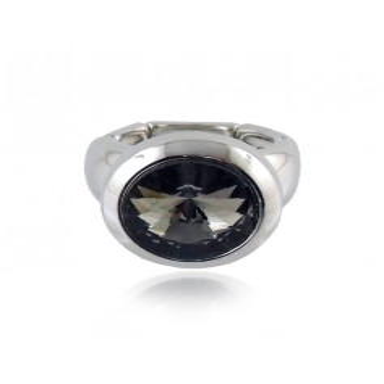 Promozioni Anello elastico e cristallo nero Lizas jewellery
