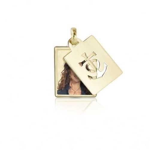 Medaglia portafoto in oro rettangolare a colori  Portafoto a colori RCPS 12.1 AU