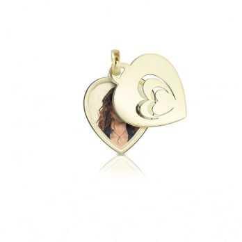 Medaglia portafoto in oro cuore a colori  Portafoto a colori CCPS 36.1 AU