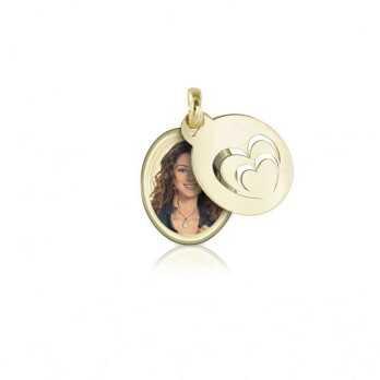 Medaglia portafoto in oro ovale a colori  Portafoto a colori OCPS 20.1 AU