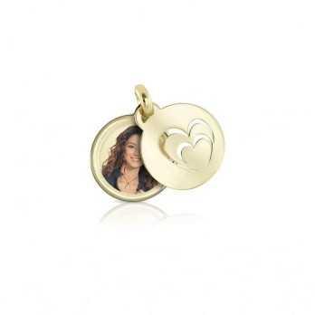 Medaglia portafoto in oro tonda a colori Portafoto a colori 430,00€ product_reduction_percent