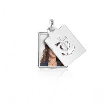 Medaglia portafoto a colori in argento rettangolare Medagliafoto Portafoto a colori RCPS 12.1 AG