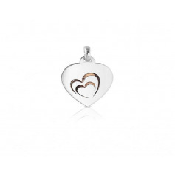 Medaglia portafoto a colori in argento cuore
