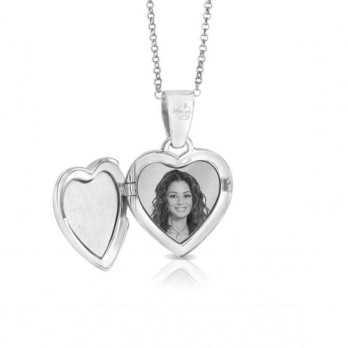 Collana medaglia portafoto incisa in argento cuore con pietre