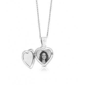 Collana medaglia portafoto incisa in argento a cuore Portafoto a incisione 110,00€ product_reduction_percent