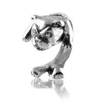 Anello cane in argento