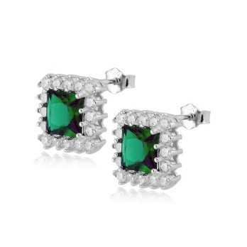Orecchini in argento con pietra verde smeraldo Alexia Gioielli Orecchini Donna RBOR130AG
