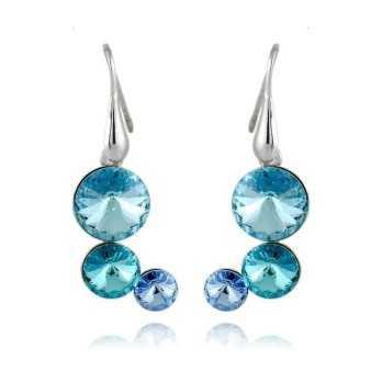 Orecchini donna in argento e pietre azzurre Orecchini Donna 19,00€