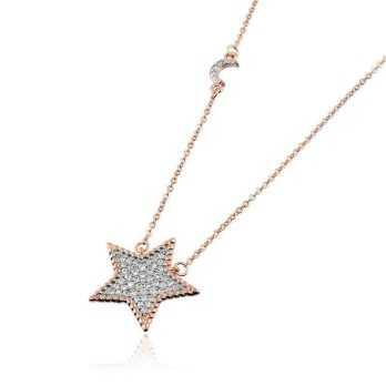 Collana con stella in argento rosa Alexia Gioielli Collane Donna RB33CLSR
