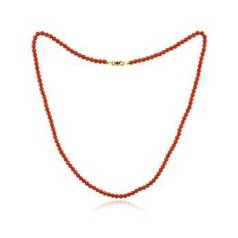 Collana di corallo rosso e oro  Collane perle CL-AUC650