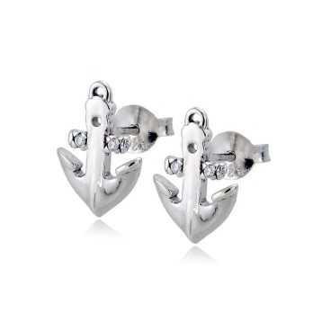 Orecchini ancora in argento e pietreZoppi Gioielli - Multibrand Orecchini Uomo 16,00€ GD-OR60AG7