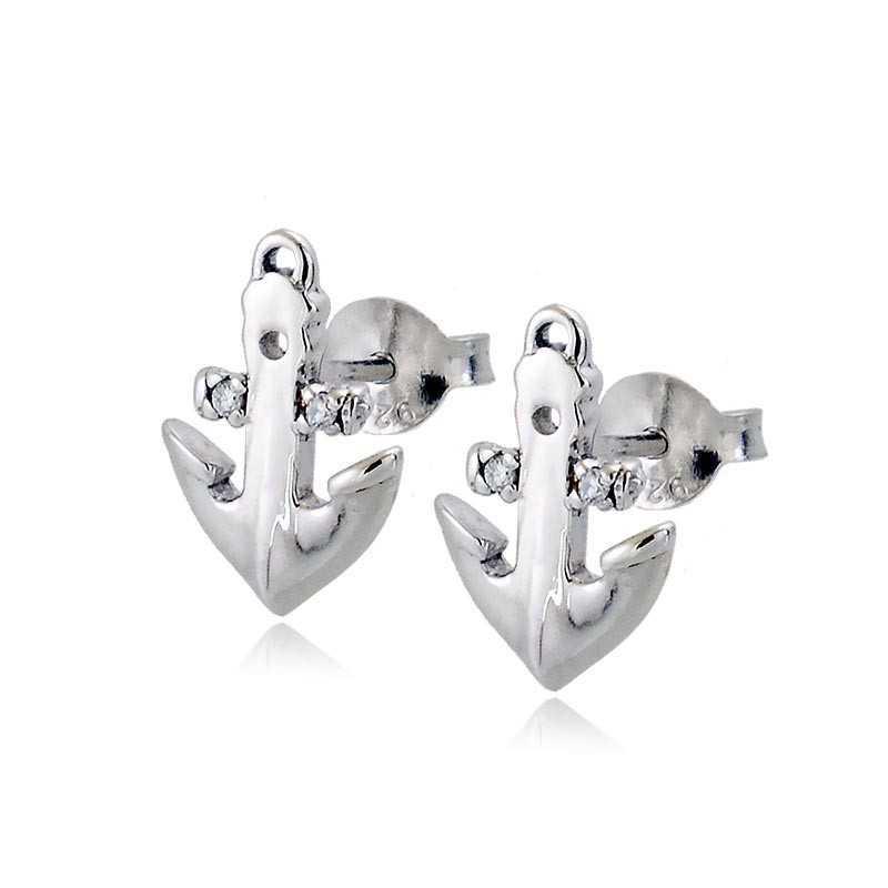 Orecchini ancora in argento e pietre Zoppi Gioielli bijoux Orecchini Uomo GD-OR60AG7