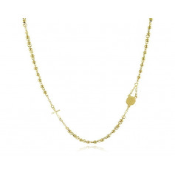 Girocollo a rosario in acciaio dorato Alexia Gioielli Collane religiose RB-GR9ACG