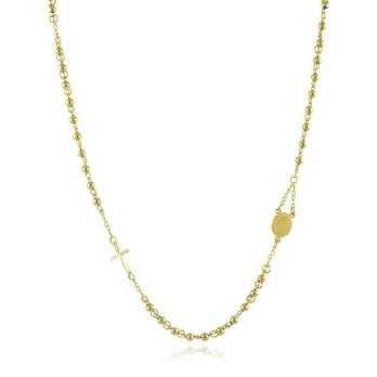 Girocollo a rosario in acciaio dorato  Collane religiose RB-GR9ACG