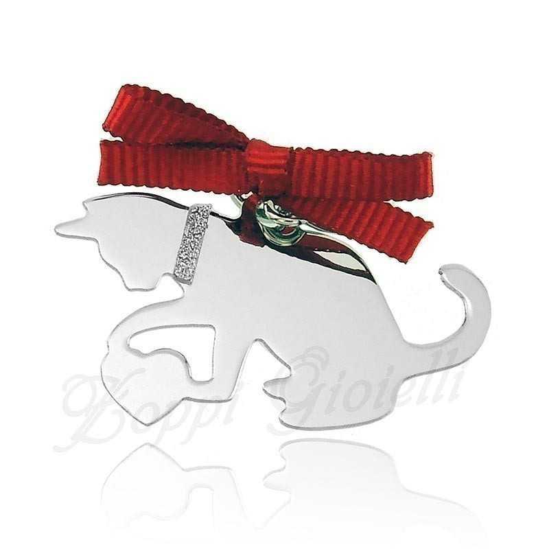 Ciondolo Gatto Happy Pets AG854 Unoaerre Silver jewellery Happy Pets R-AG854