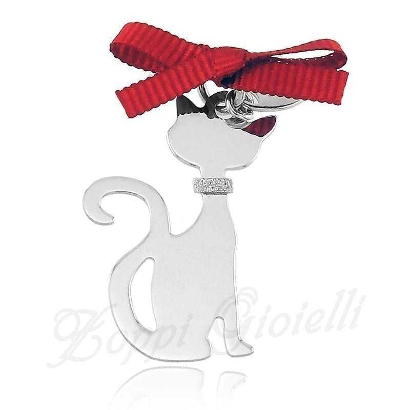 Ciondolo Gatto Happy Pets AG853 Unoaerre Silver jewellery Happy Pets 1R-AG853
