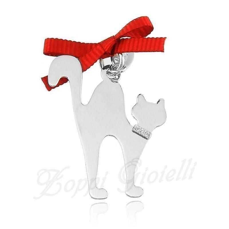 Ciondolo Gatto Happy Pets AG850 Unoaerre Silver jewellery Happy Pets 1R-AG850