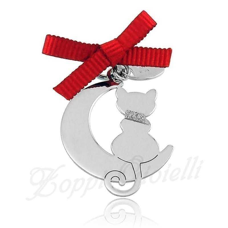 Ciondolo Gatto Happy Pets AG849 Unoaerre Silver jewellery Happy Pets 1R-AG849