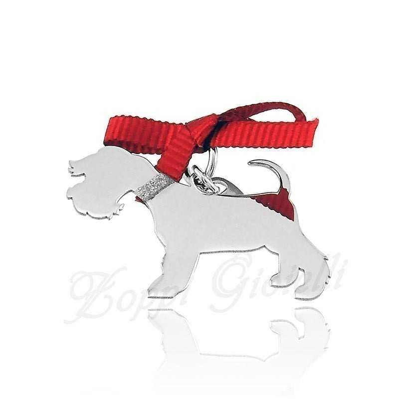 Ciondolo Cane Schnauzer nano Unoaerre Silver jewellery Happy Pets 1R-AG1002