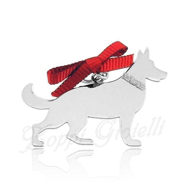 Ciondolo Cane Pastore Tedesco Unoaerre Silver jewellery Happy Pets 1R-AG837
