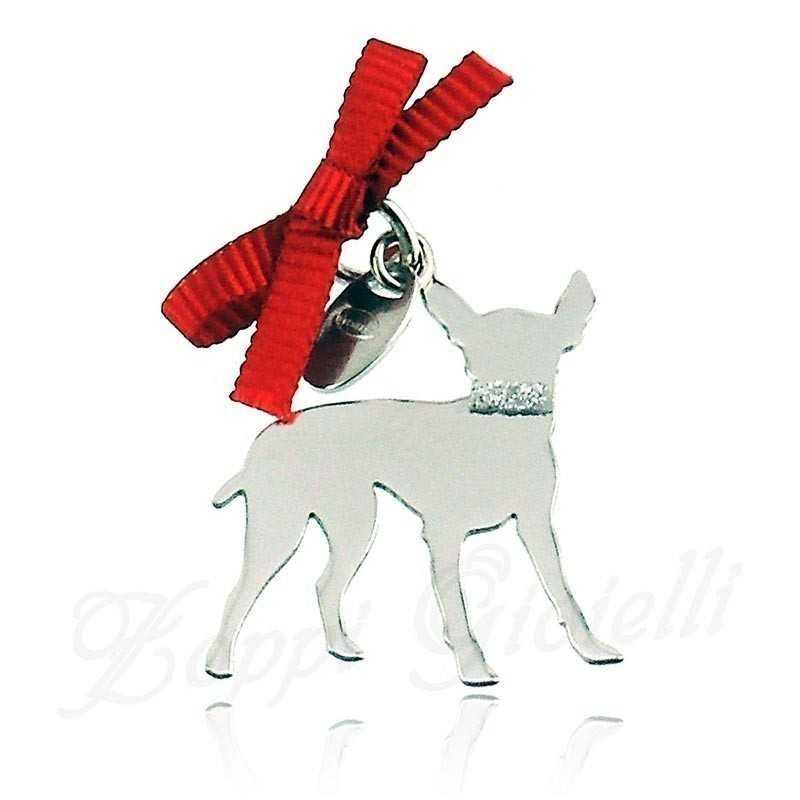 Ciondolo Cane Pincher Unoaerre Silver jewellery Happy Pets 1R-AG838