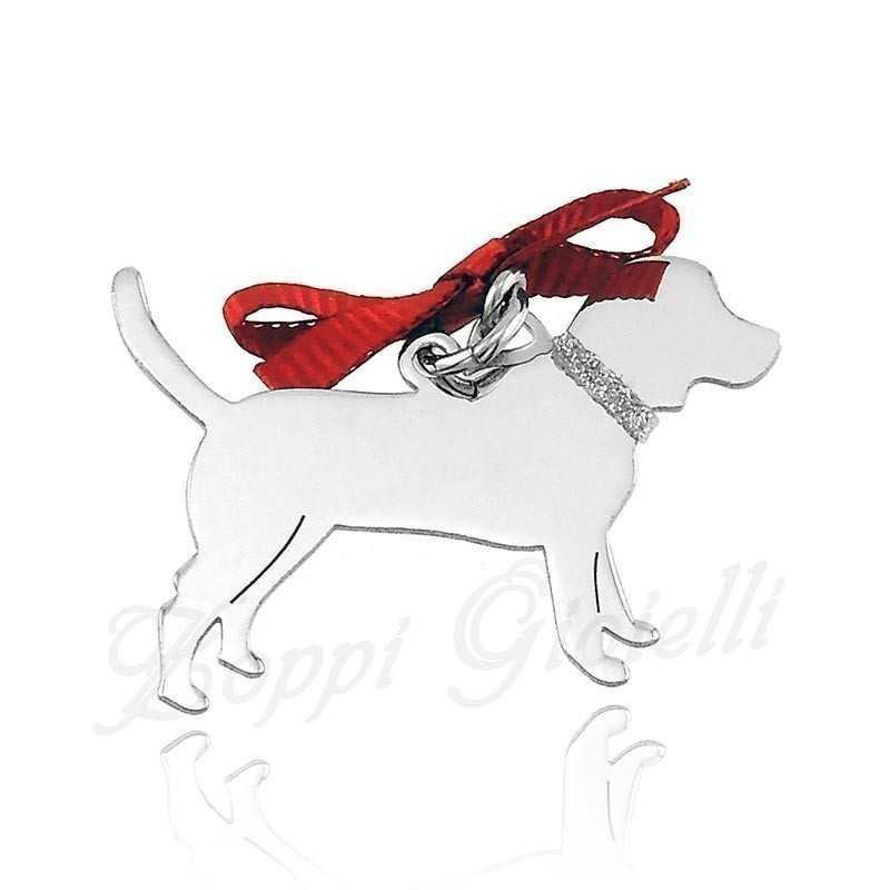 Ciondolo Cane Meticcio medio Unoaerre Silver jewellery Happy Pets 1R-AG843
