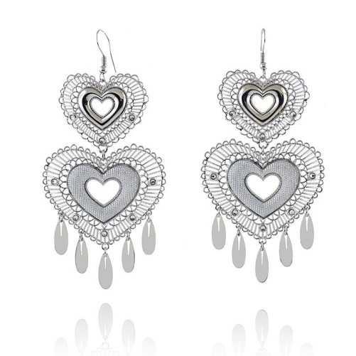 Orecchini Pendenti a cuore in bronzo argentatoByblos jewels Promozioni 39,00€ BB-9302